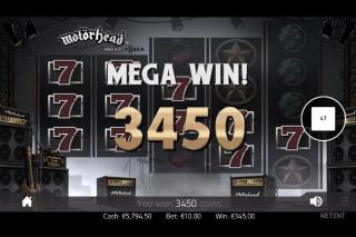 Motorhead Mobile Slot Mega Win