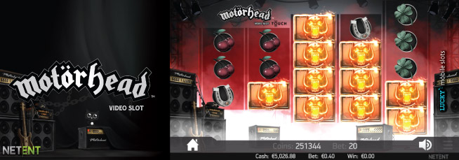 NetEnt Motorhead Touch Slot Screenshot