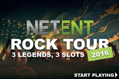 NetEnt Rock Tour, 3 Legends, 3 Video Slots