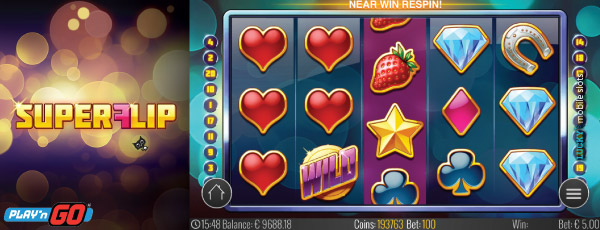 Play'n GO Super Flip Mobile Slot Re-Spin