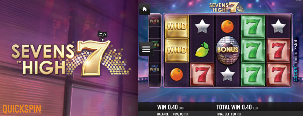 Quickspin Sevens High Mobile Slot Screenshot