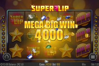 Super Flip Mobile Slot Mega Big Win