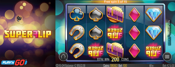 Play'n GO Super Flip Mobile Slot Free Spin Feature