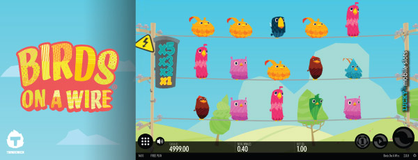 Thunderkick Birds On A Wire Mobile Slot Screenshot