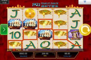 1421 Voyages of Zheng He Mobile Slot Game Win