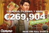 €269,904 In Casumo Casino Winnings Paid Out In One Week