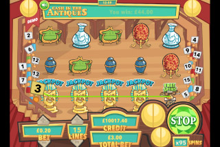 Cash In The Antiques Mobile Slot Reels