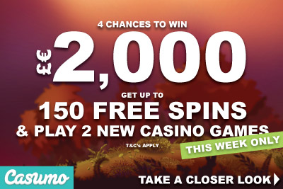 Win £€2K, Play New Games And Get Up To 150 Casumo Free Spins