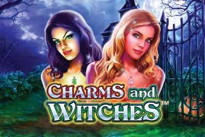 Charms And Witches Mobile Slot Logo
