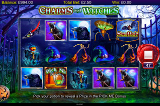 Charms And Witches Mobile Slot Reels