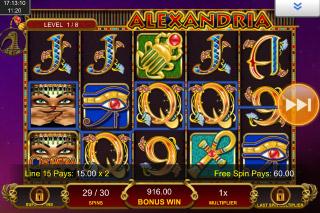 Cleopatra Plus Mobile Slot Bonus Win