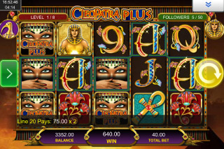 Cleopatra Plus Mobile Slot Reels