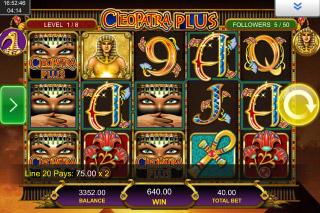 Cleopatra Plus Mobile Slot Reels