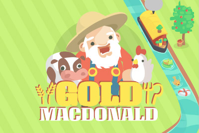 Gold MacDonald Mobile Slot Logo