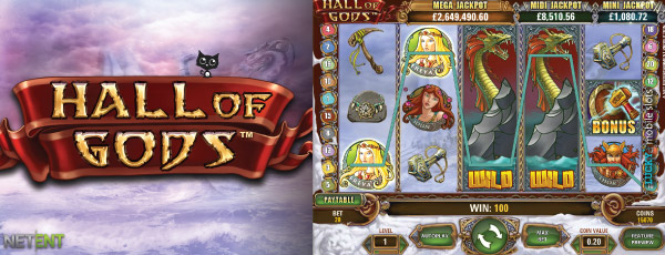 Hall of Gods Jackpot Mobile Slot