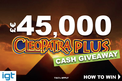 IGT Cleopatra Plus Real Cash Giveaway