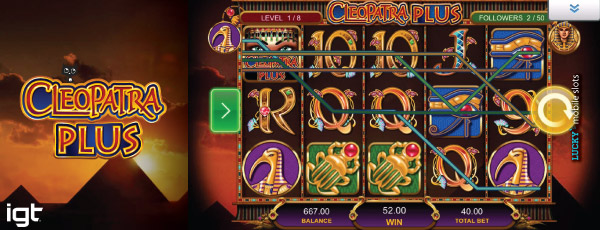 IGT Cleopatra Plus Slot On Mobile Base Game