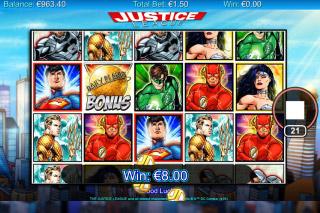 Justice League Mobile Slot Reels