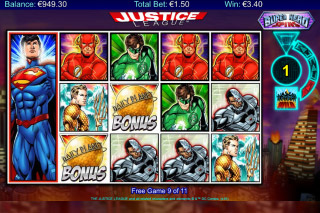 Justice League Mobile Slot Free Spins