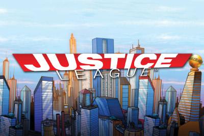 Justice League Mobile Slot Logo