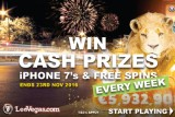 Win Cash Prizes & LeoVegas Free Spins Every Week