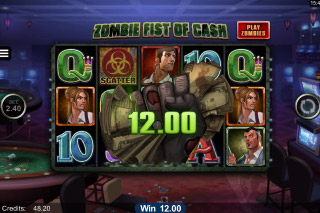 Lost Vegas Mobile Slot Zombie Fist of Cash
