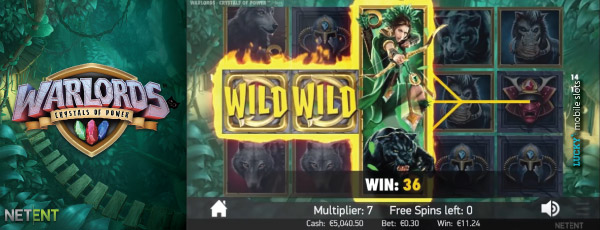 Warlords Crystal Of Power Touch Priestess Free Spins Bonus