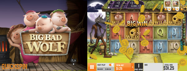 Quickspin Big Bad Wolf Mobile Slot Big Win