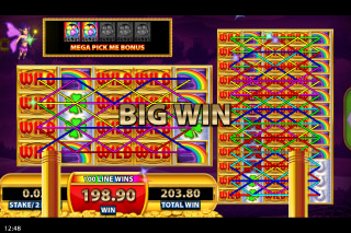 Rainbow Riches Reels of Gold Mobile Slot Big Win
