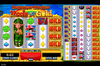 Rainbow Riches Reels of Gold Mobile Slot Gold Reels