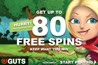 Get Up To 80 Red Riding Hood Free Spins This Weekend Only