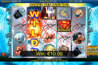 Superman Mobile Slot Bonus Bet