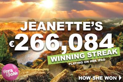 Jeanette Wins Big At Vera&John iPad Casino