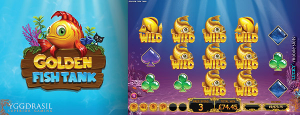 Yggdrasil Golden Fish Tank Mobile Slot Bonus Screenshot