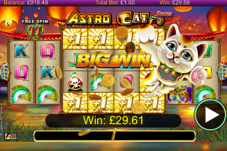 Astro Cat Mobile Slot Free Spins Win
