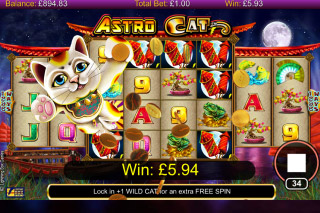 Astro Cat Mobile Slot Win