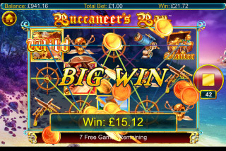 Buccaneers Bay Mobile Slot Free Spins Big Win