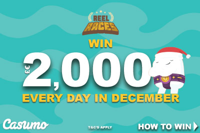 Casumo Casino Reel Races Win £€2,000 Every Day In December
