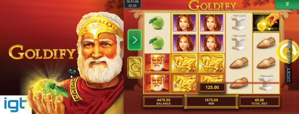 Goldify Mobile Slot Screenshot With Golden Symbols