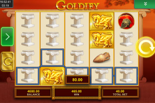 Goldify Mobile Slot Stacked Symbols