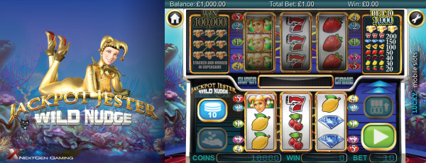 Jackpot Jester Wild Nudge - win a jackpot at Casumo