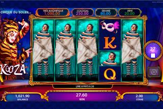 KOOZA Mobile Slot Mystery Reels