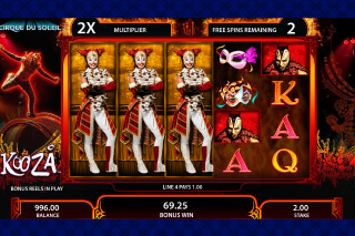 KOOZA Mobile Slot Wheel of Death Free Spins