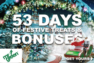 Get 53 Days Of Festive Treats & Bonuses At Mister Green
