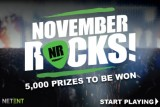 NetEnt Casinos Are Rocking This November With 5000 Prizes To Be Won