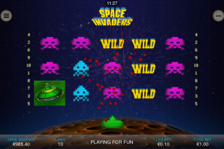Space Invaders Mobile Slot Reels
