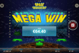 Space Invaders Mobile Slot Mega Win