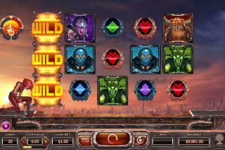 Super Heroes Mobile Slot Reels