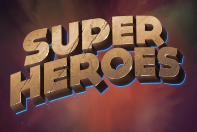 Super Heroes Mobile Slot Logo