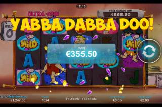The Flintstones Mobile Slot Big Win